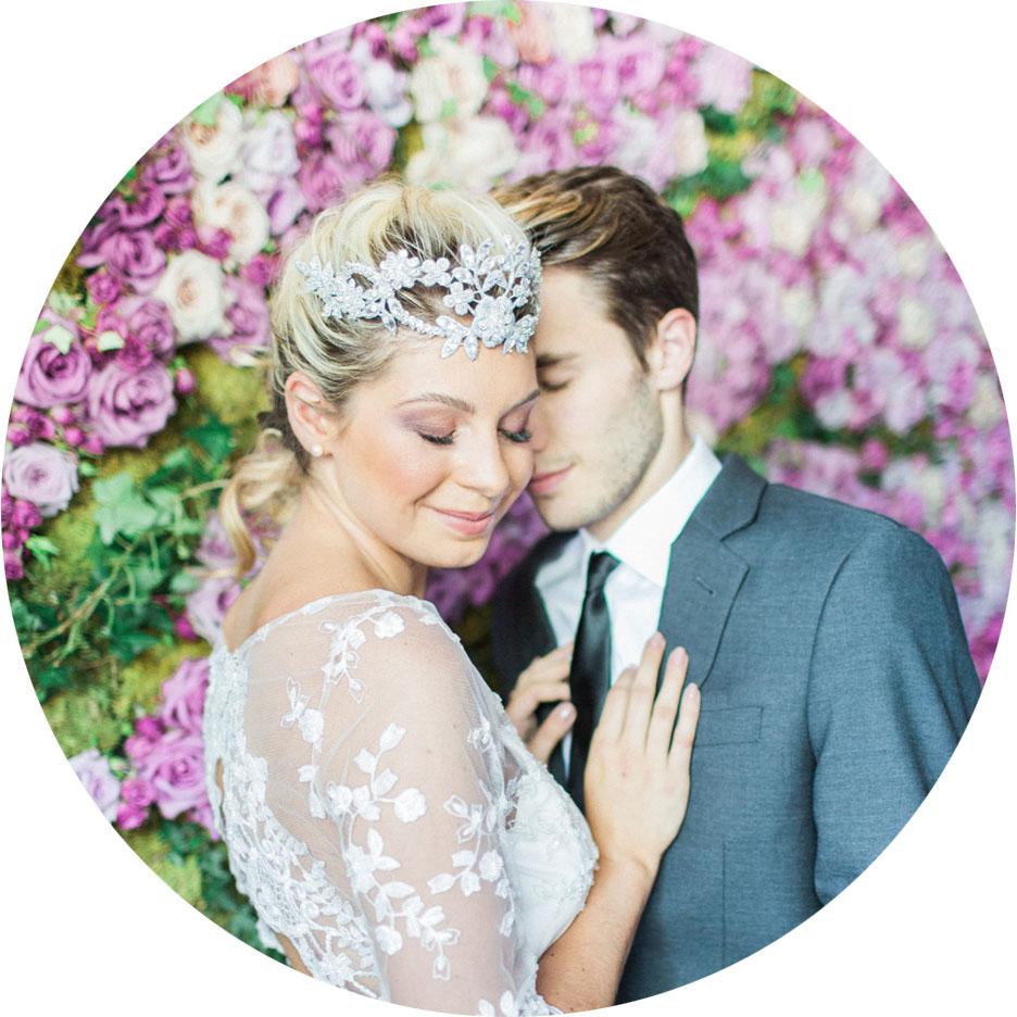 Wedding Chicks - Purple Flower Heaven Wedding Inspiration