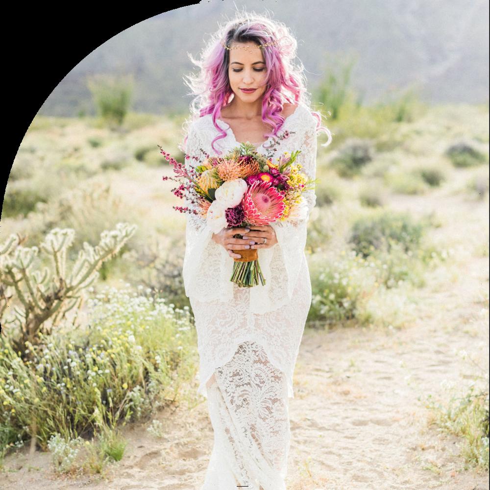 Green Wedding Shoes - Desert Wildflower Elopement Inspiration
