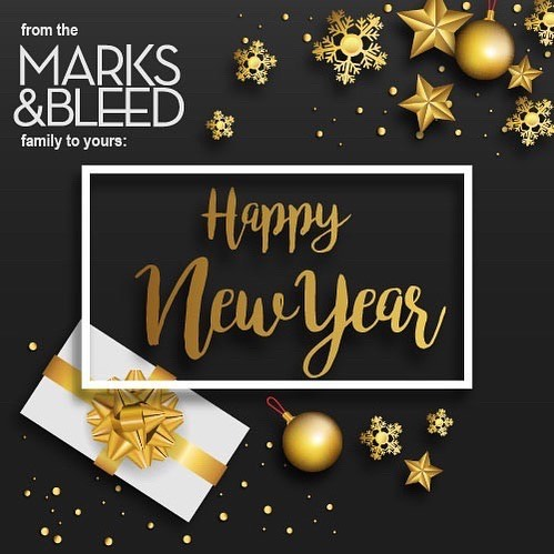 Thank you to all our customers, followers, friends & family for an awesome 2017!! Wishing you all a #HappyNewYear from the @marksandbleed family to yours!