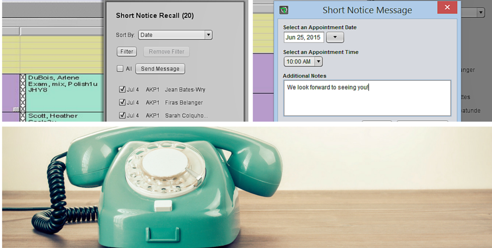 Short notice feature lets you book last minute appointments.