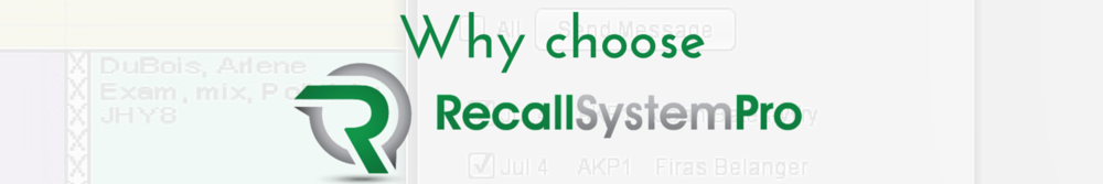 Why choose Recall System Pro
