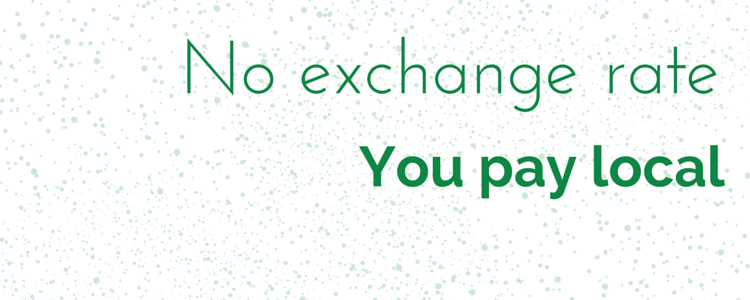 With recall system pro you don't pay the exchange rate. You pay in local currency. Saves you money.