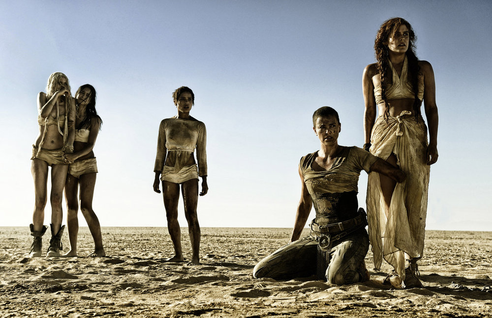 Whites and simple blacks are used to create the simple yet effective clothing in Mad Max Fury Road.