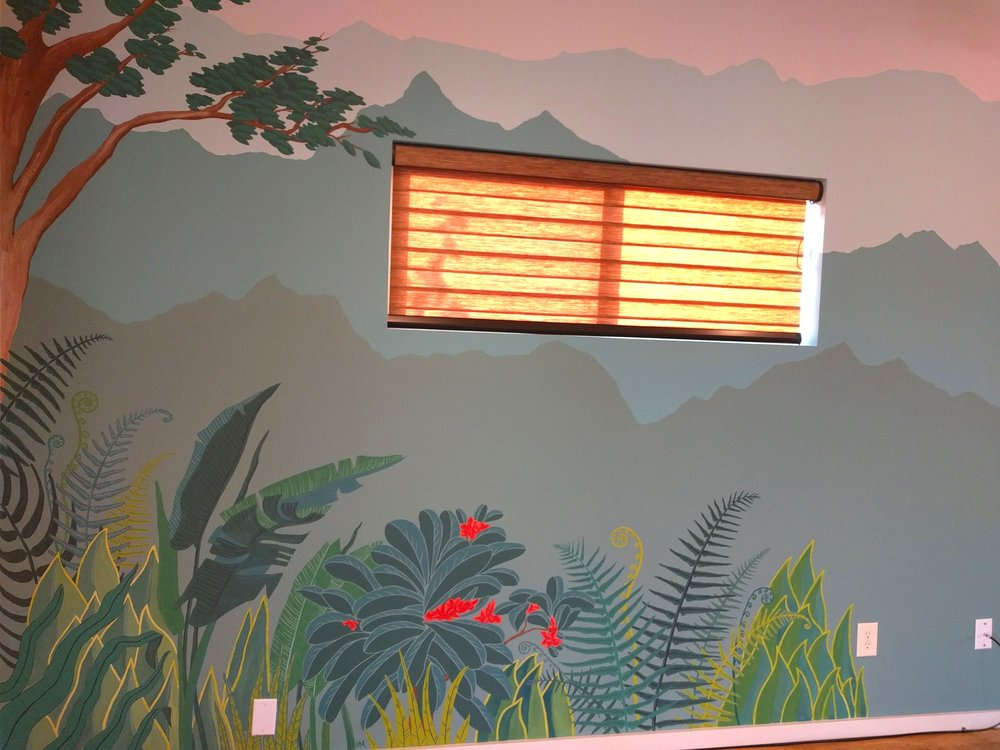 Northwest Mural with Foliage detail