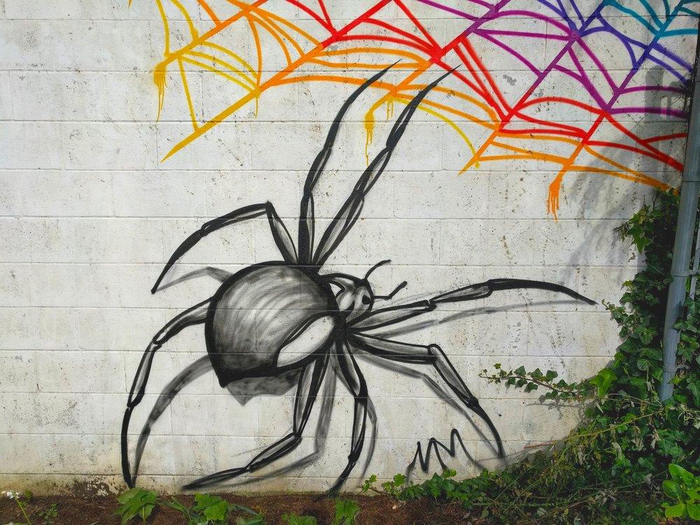 Backyard Bug Mural detail