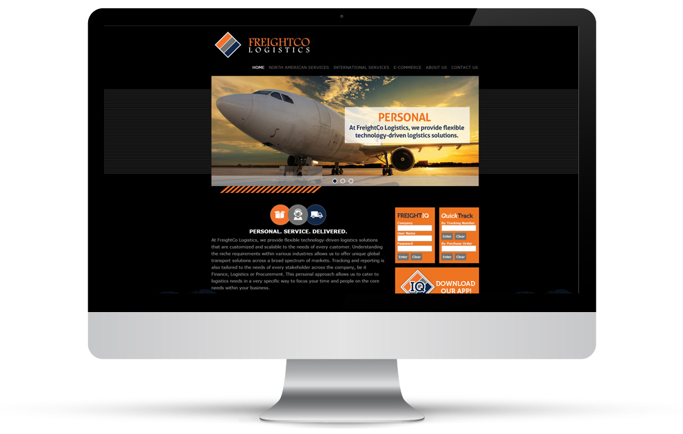 FreightCo Logistic's website rebranded by Dion Marketing.