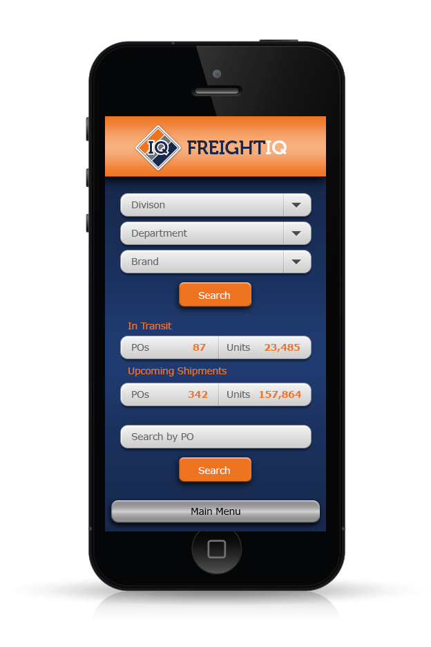FreightIQ App created as a tracking platform for customers.
