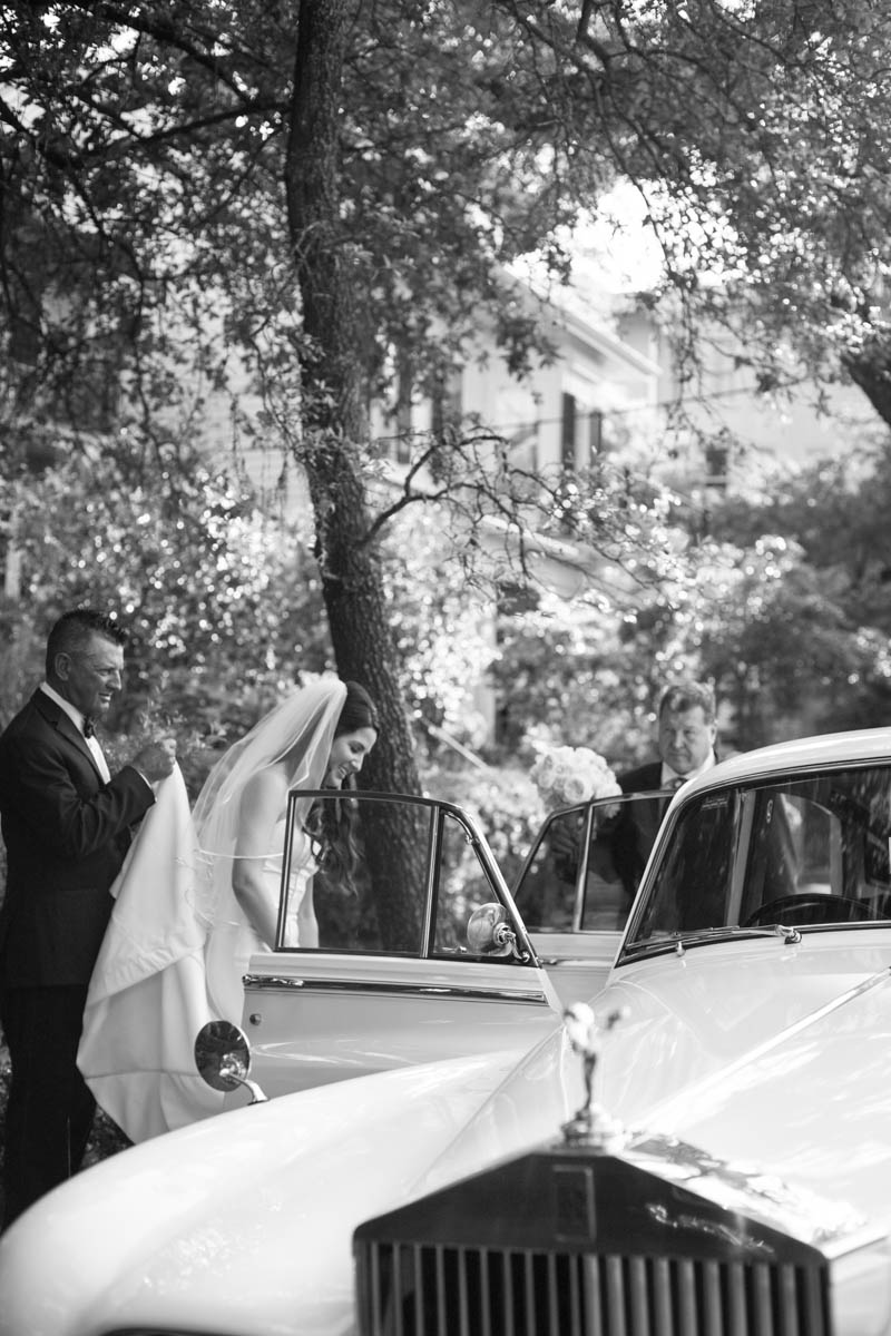 Bride and Rolls Royce New  Orleans Wedding