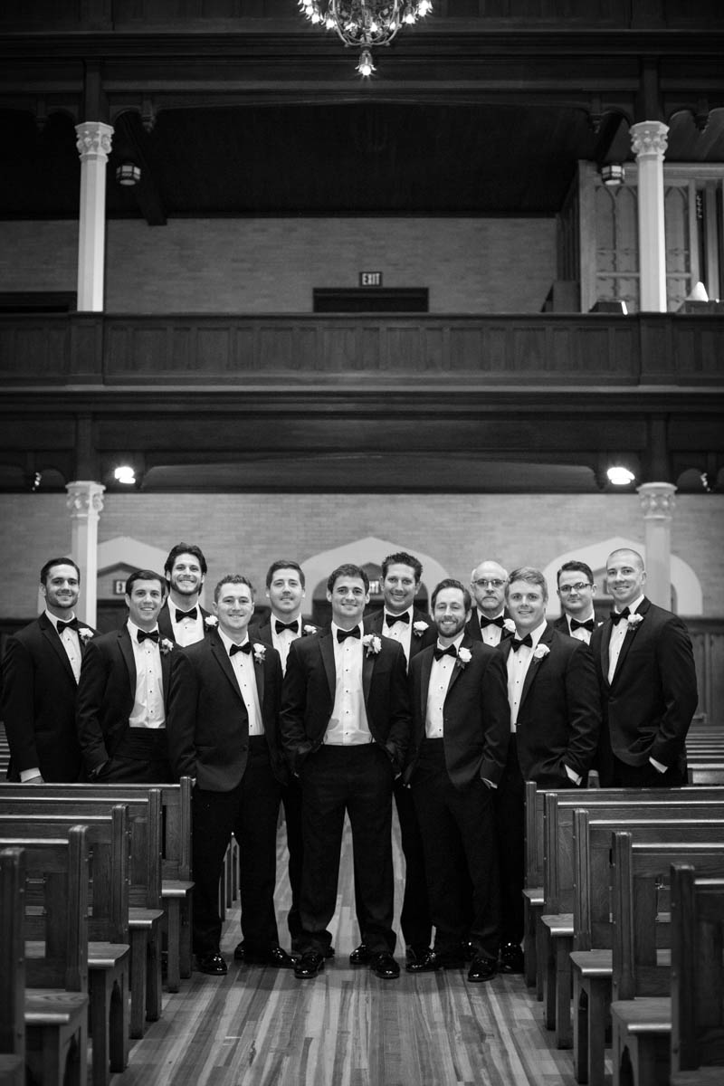 Groomsmen New Orleans Catholic Wedding
