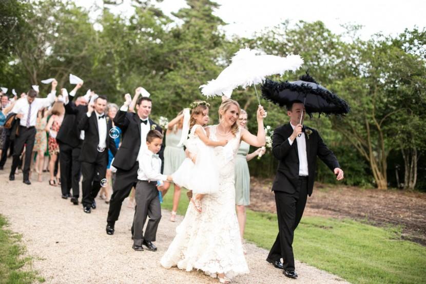 Baton Rouge weddings, Steele Burden Memorial Orangerie, bride and groom, second line