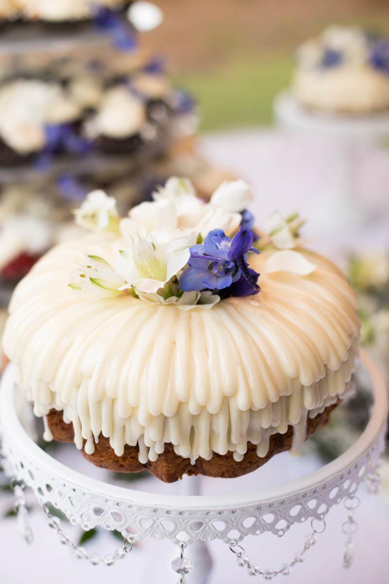Baton Rouge weddings, Steele Burden Memorial Orangerie, bride and groom, Nothing Bundt Cakes