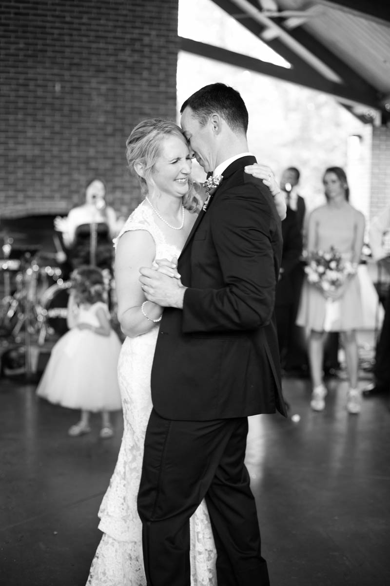 Baton Rouge weddings, Steele Burden Memorial Orangerie, bride and groom, first dance