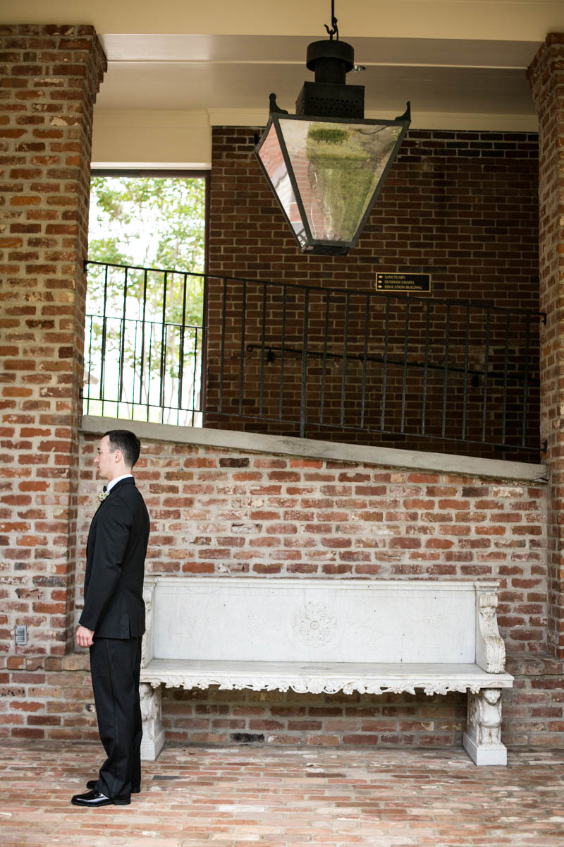 Baton Rouge Wedding, First Presbyterian Downtown, groom