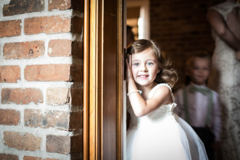 Baton Rouge Wedding, First Presbyterian Downtown, flower girl