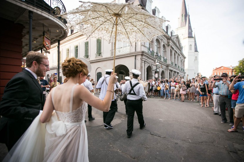 French Quarter Second Line, New Orleans Wedding Photographers