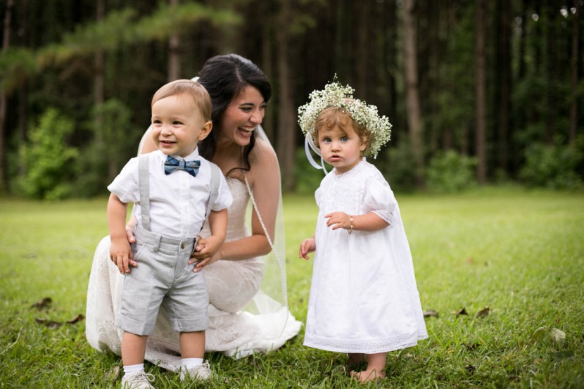 St. Francisville Weddings, Bridal Party, flower girl