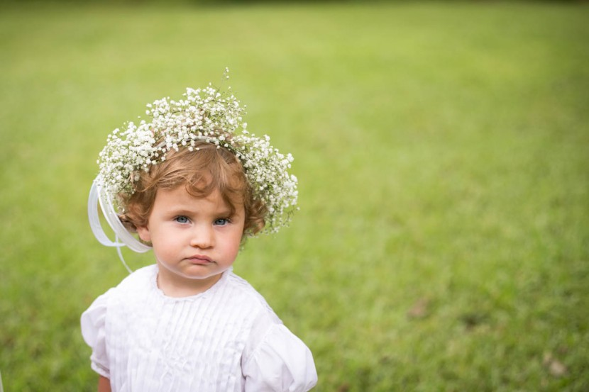 St. Francisville Wedding Photographer flower girl