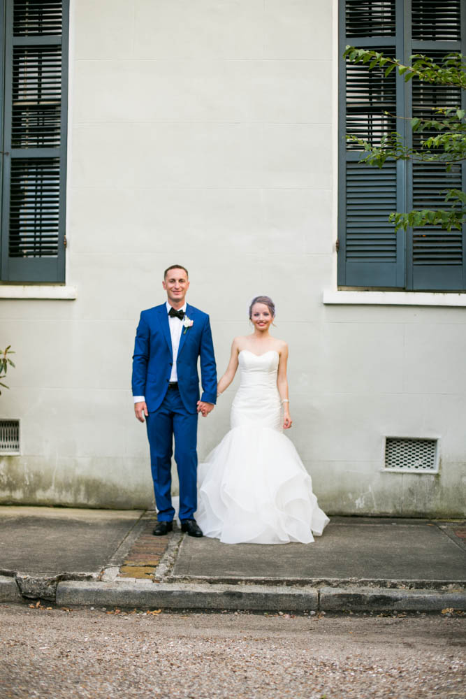 Bride and Groom New Orleans Wedding Terrell House