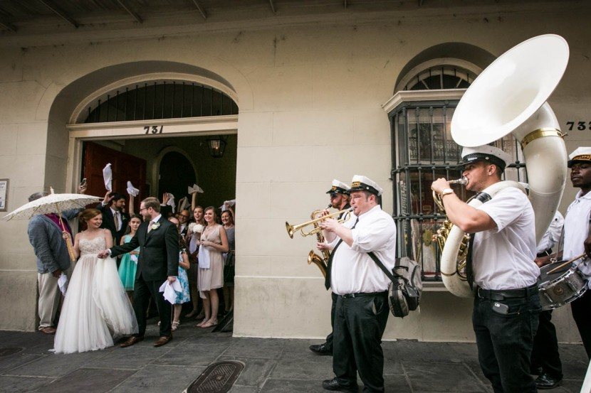 French Quarter Second Line_New Orleans Wedding Photographers