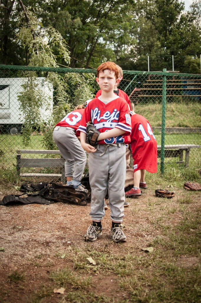 A baseball player in one of Sofia's only baseball leagues which is run by the MTW team.