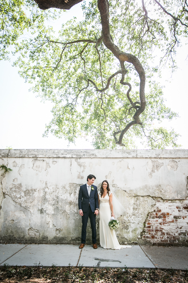 new orleans wedding bride and groom