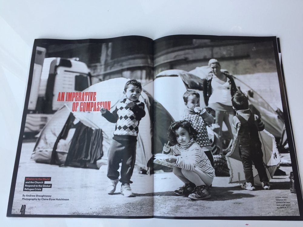 byFaith Magazine   In the spring of this year ByFaith Magazine did an article on MTW and the PCA's response to the global refugee crisis. They used photos from my time on the docks of Greece in Athens in March 2016 as refugees from Syria and neighboring countries arrived on the shores of Greece fleeing war and persecution. This was another way that God used the photographs and videos of the refugees we've worked with in the last 2 years to bring more understanding and awareness of the ways God is making His name known amongst the nations.
