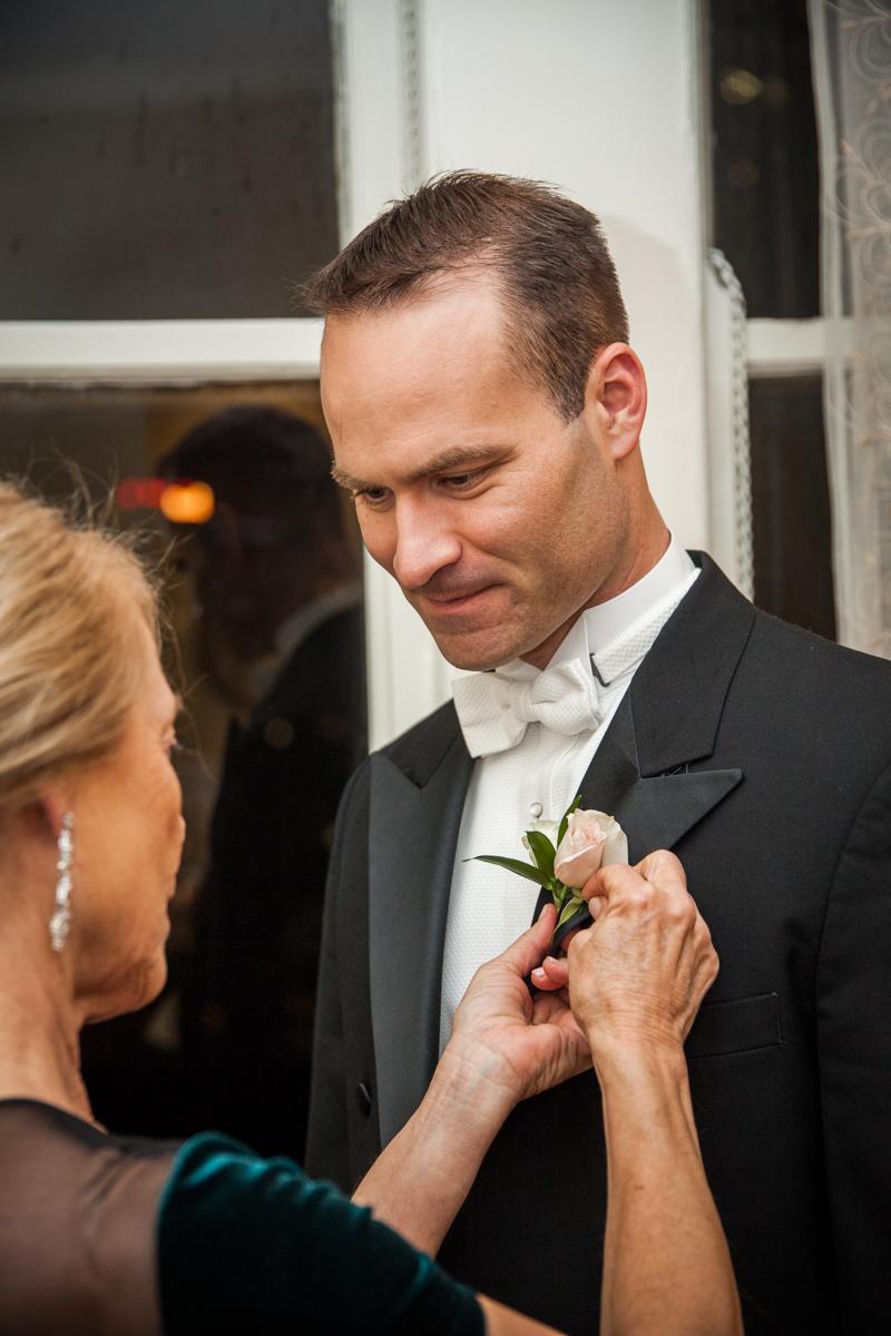 groom getting ready Roosevelt weddings