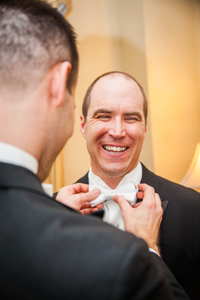 Roosevelt groom getting ready