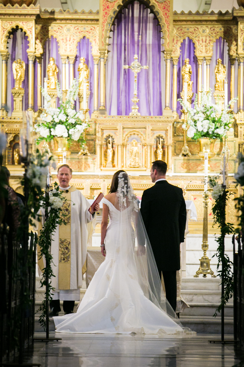Immaculate Conception church Weddings New Orleans  Bride and Groom