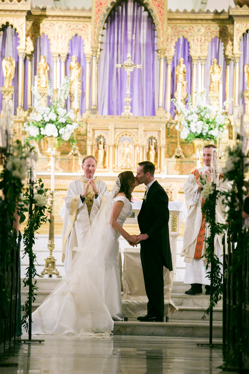 Immaculate Conception Weddings First Kiss