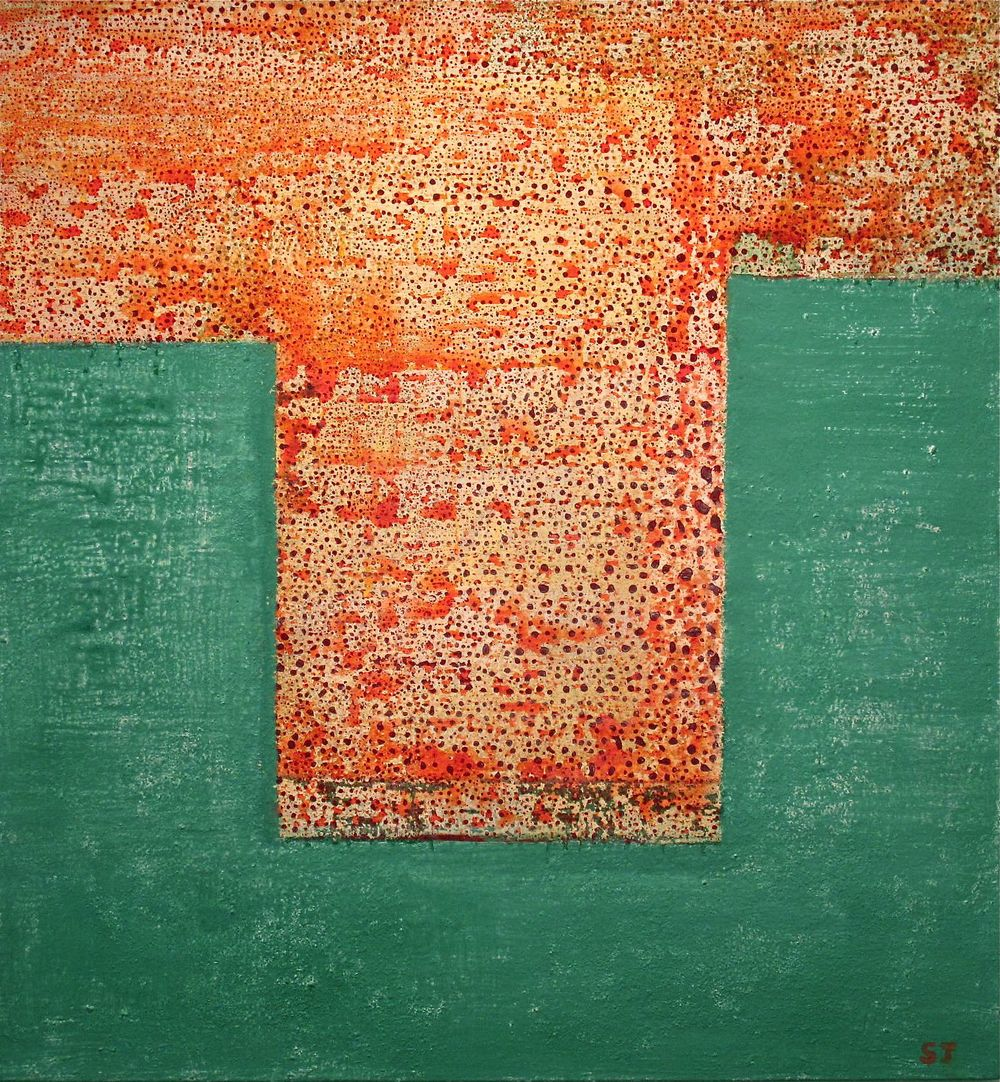 Suejin Jo, Orange Tide, 30 x 28.jpg