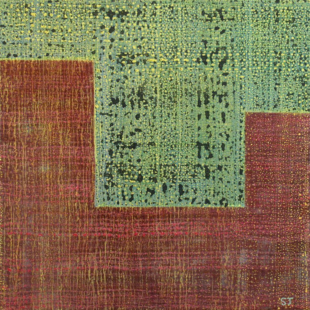 Suejin Jo, Green Tide into Magenta, 20 x 20.jpg