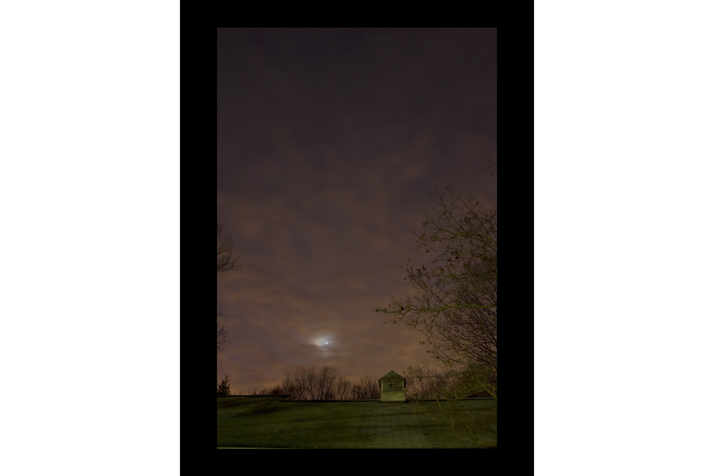 "#1592 Moon over Garage, Bedford, NY, 2010, 26""x36"""
