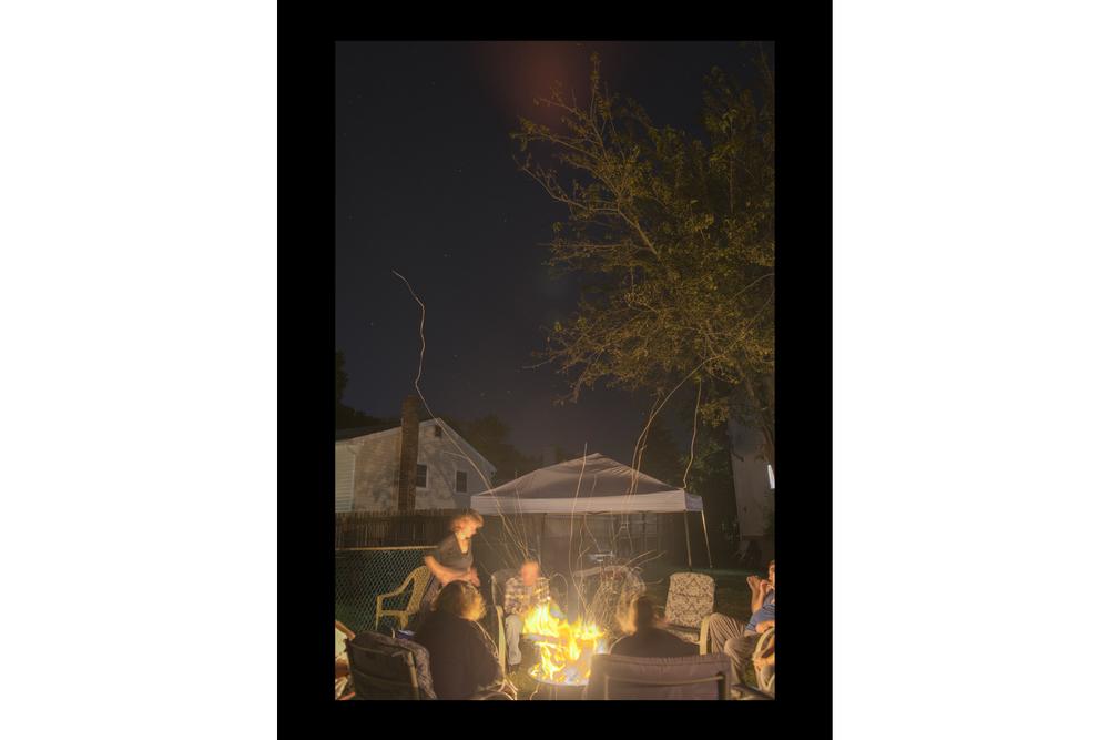 "#7484 Campfire, Boonton, NJ, 2015, 26""x36"""