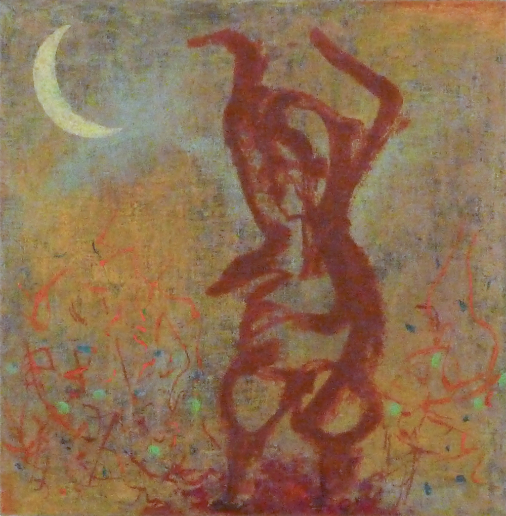 Shaman Dance, 12''x12'', acrylic on canvas, 2014