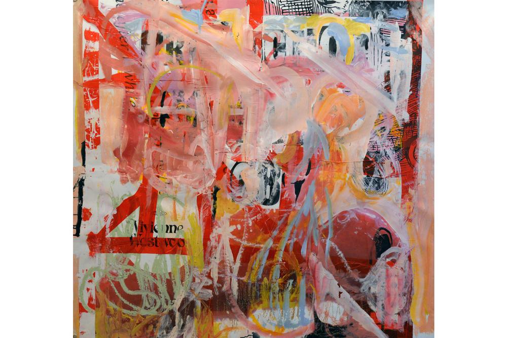 """Identity, 60"""" x 64.5"""", acrylic on vinyl, 2014"""
