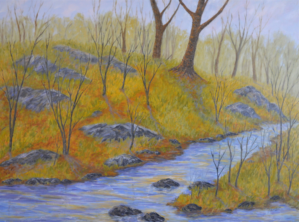 David Cerulli, Small Stream, Early Spring