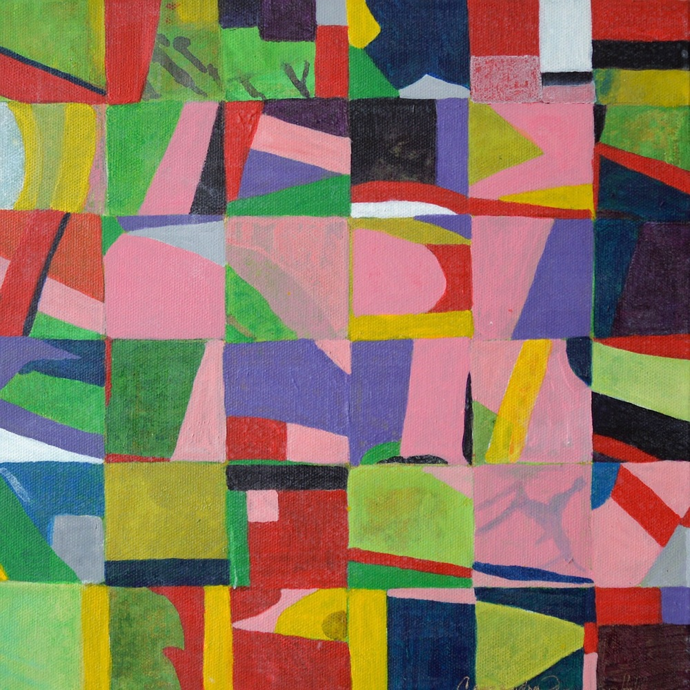 "Fall Spring, 12"" x 12"", acrylic on canvas, 2015"