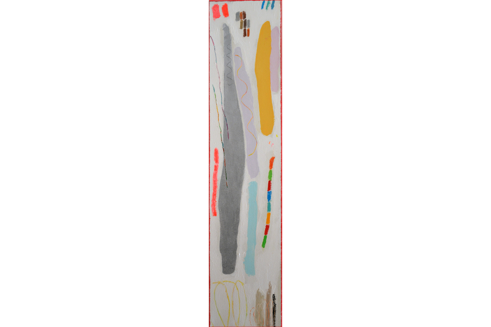 "The Shepard's Staff, mixed media on canvas, 36"" x 8"", 2015"