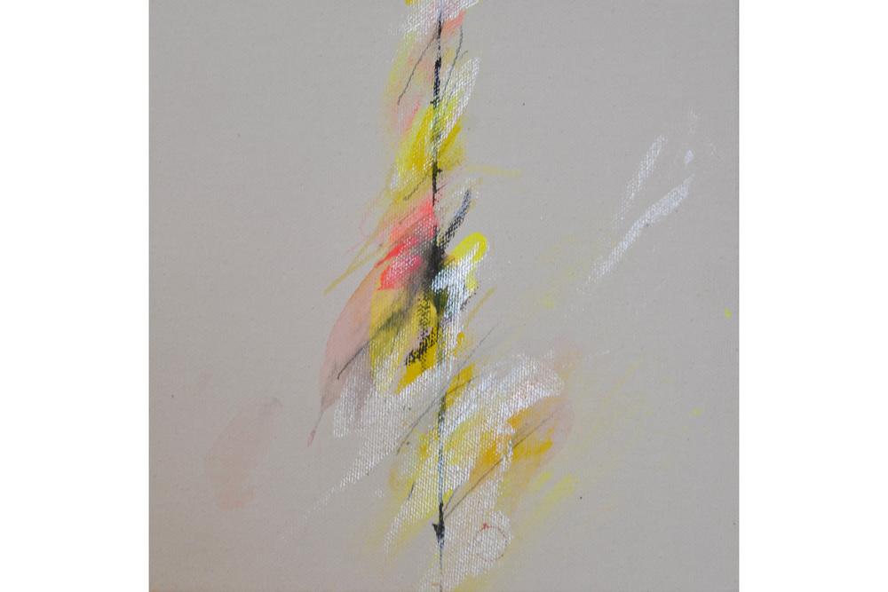 """Joyce Rezendes, Wisp, Mixed media on canvas, 8"""" x 8"""", 2016"""