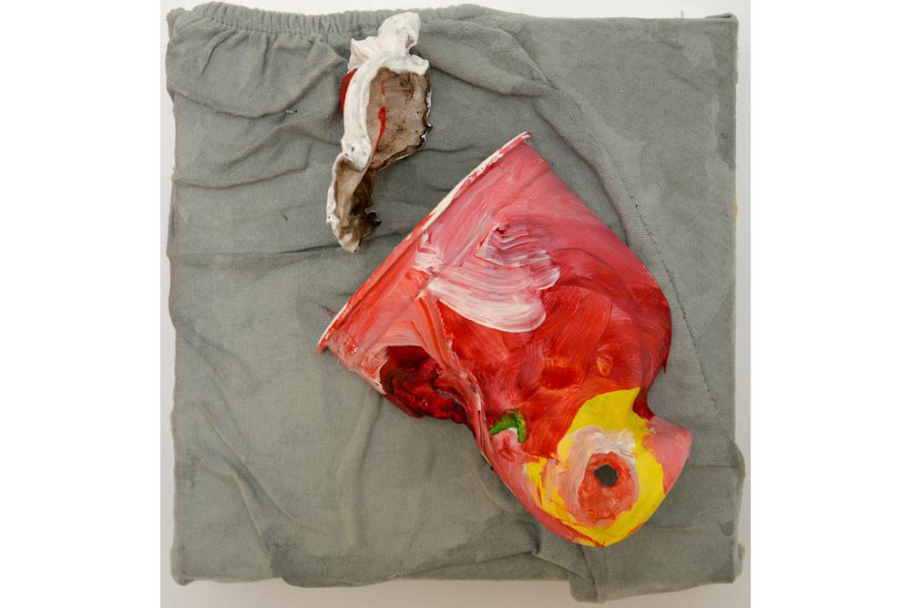 """Jonathan Bauch, Soda, Mixed media on canvas,8"""" x 8"""", 2016"""