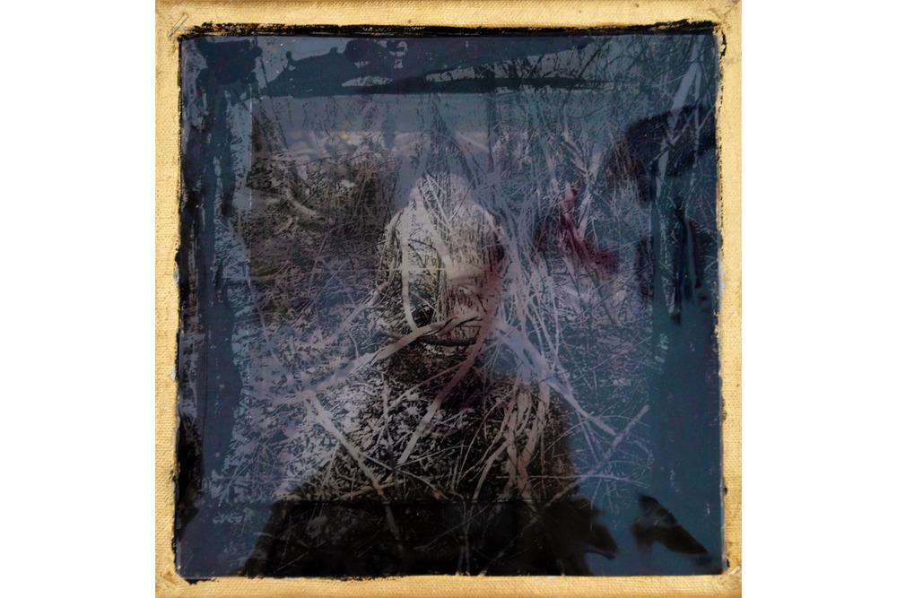 """Olivia Beens, Buddha Vision I, Mixed media, 8"""" x 8"""", 2016"""