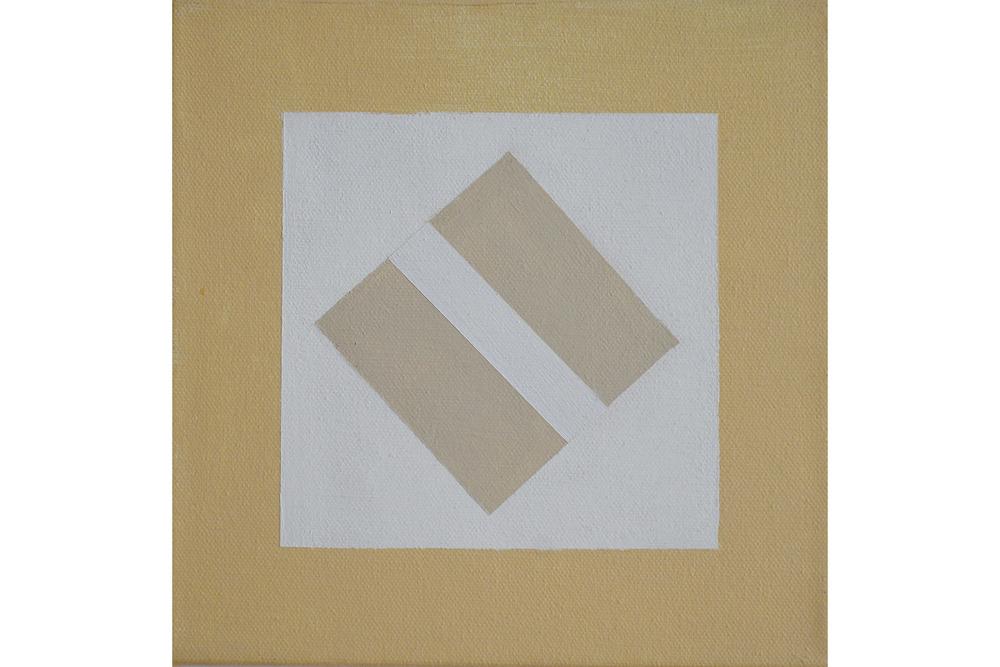 """Eveline Luppi, White Sands 0.4, Acrylic on canvas, 8"""" x 8"""", 2016"""