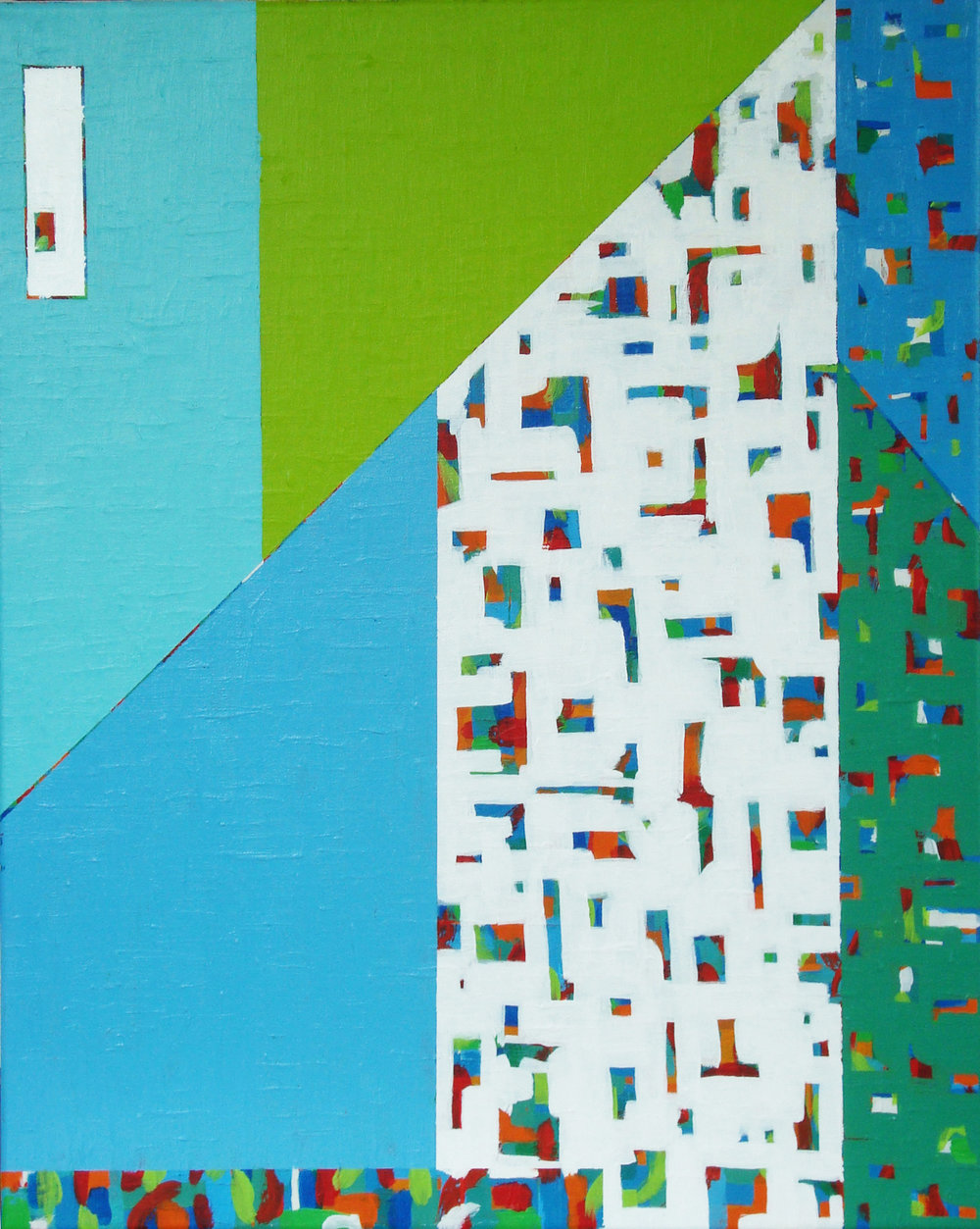 "STACCATO V, acrylic on canvas, 20"" x 16"", 2016"