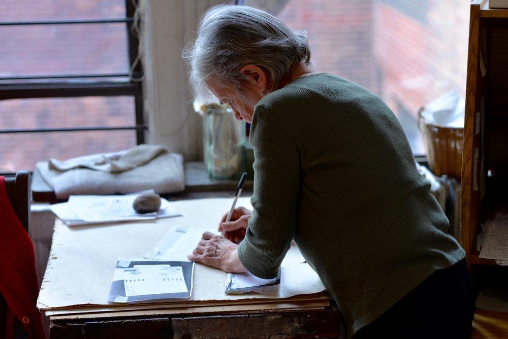 Lindsay in her studio