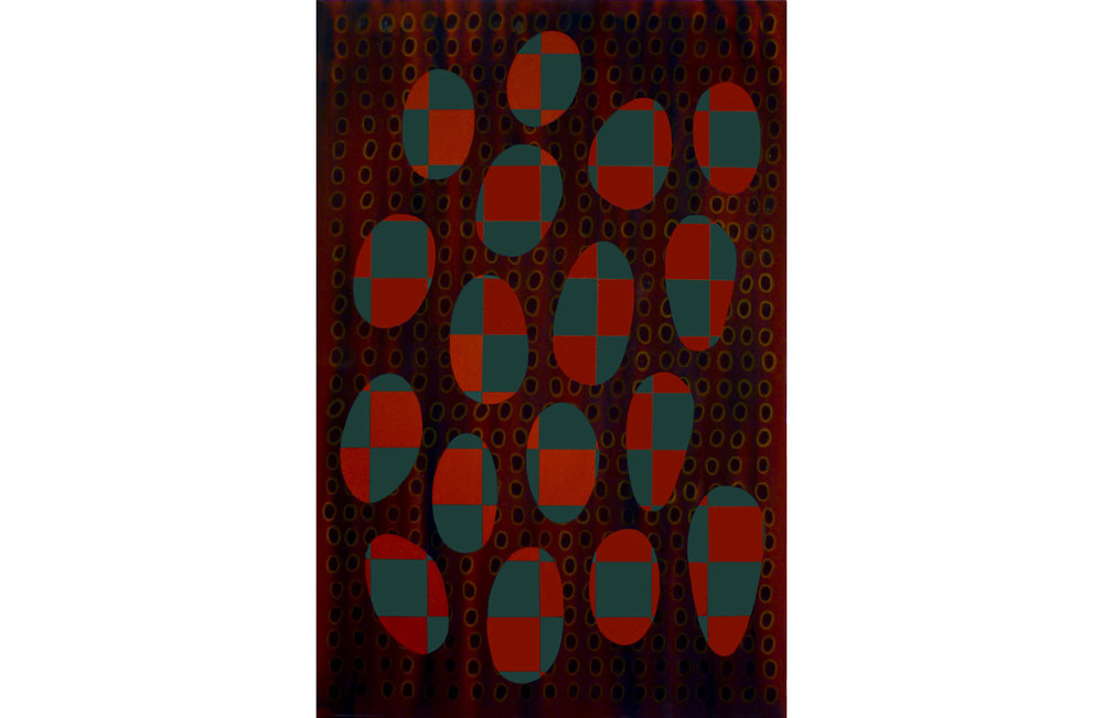 """Tear Open the Firmament, Acrylic on canvas, 64"""" x 42"""", 2015"""