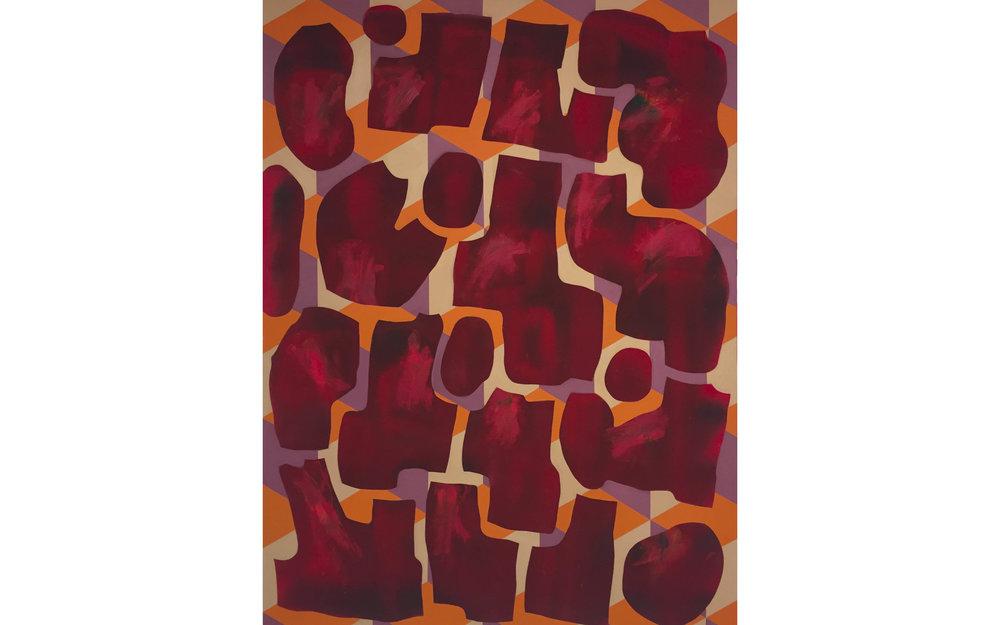 """Our Own Truths, Acrylic on canvas, 64"""" x 48"""", 2016"""
