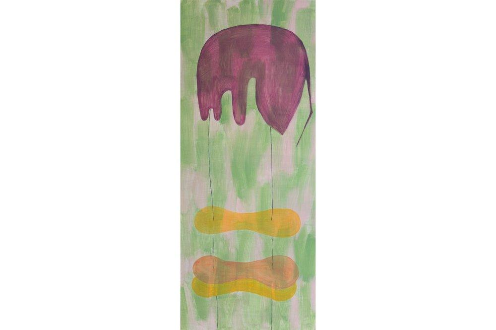 "Repeat XXVI, Oil paint on aluminum, 48"" x 20"", 2016"