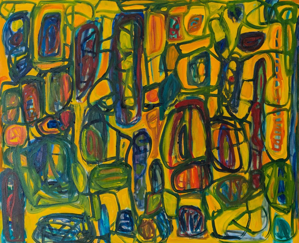 "Siena, Oil on canvas, 48"" x 60"", 2016"