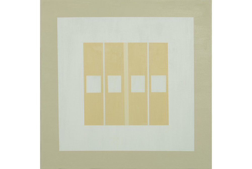 "White Sands .02, Acrylic on canvas, 20"" x 20"", 2016"